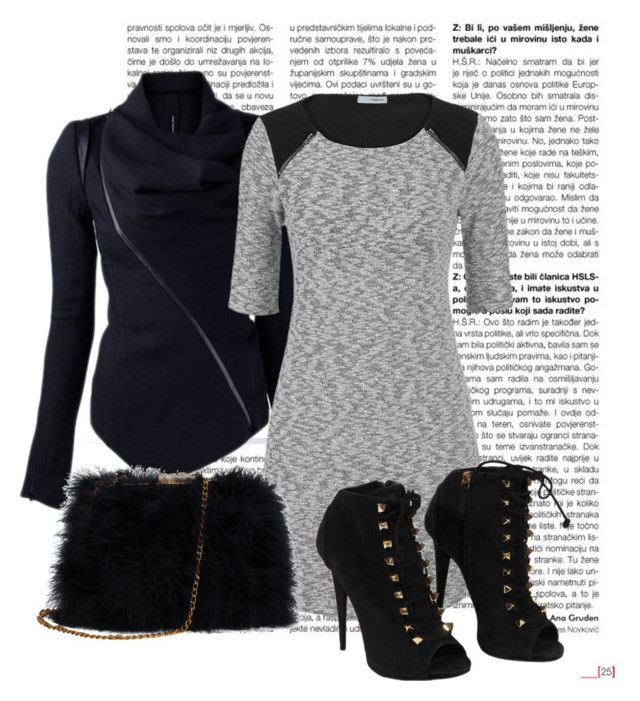 """Black and Grey"" by jordan-hansen on Polyvore featuring maurices, Giuseppe Zanotti and winter2015"