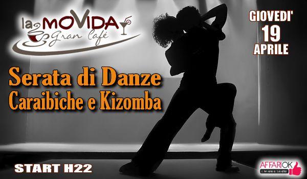 SERATA DI DANZE CARAIBICHE E KIZOMBA A LA MOVIDA Danza