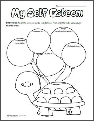 Free printable my positive self esteem pinterest for Self esteem coloring pages