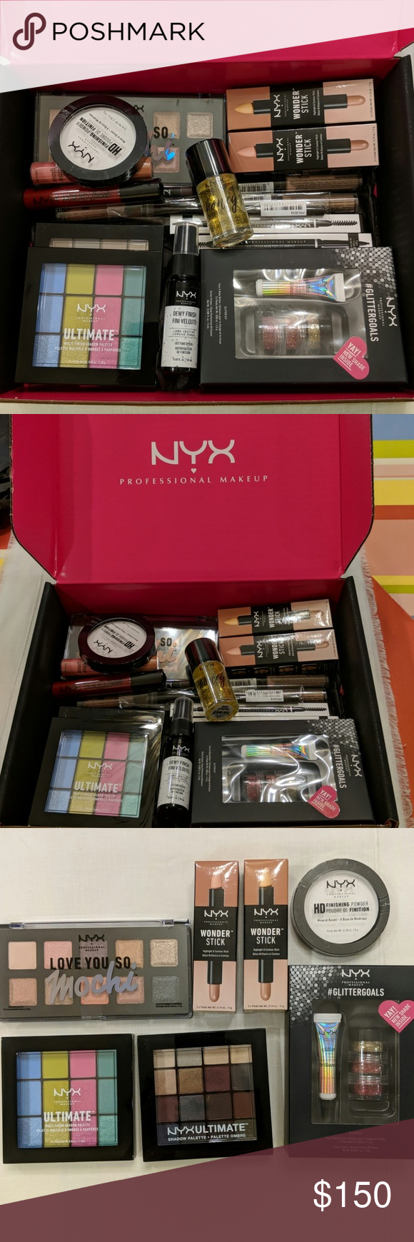 Huge lot of NYX Cosmetics all new in NYX PR box Nyx