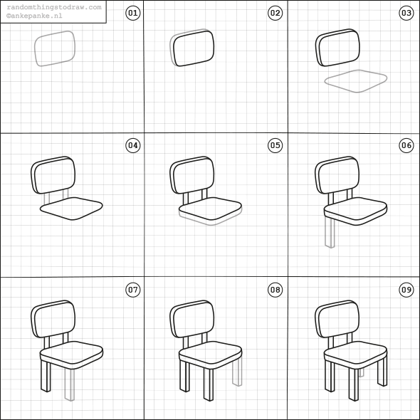 How to draw a chair journal smash book bullet journal for Things to practice drawing