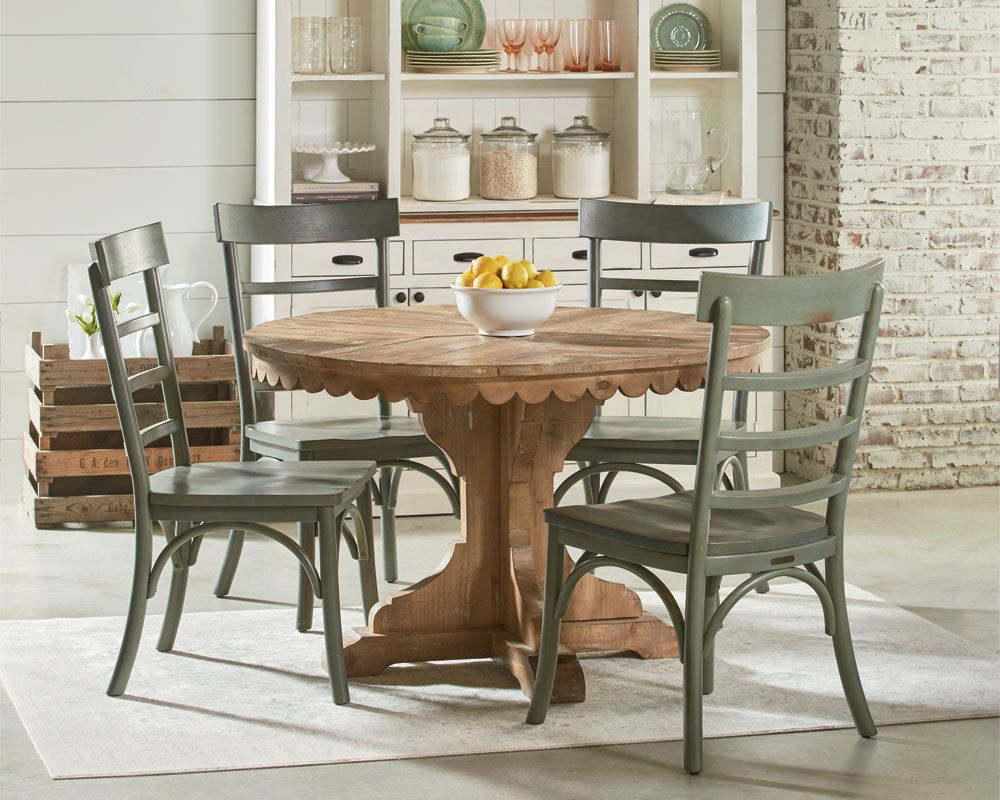 Magnolia Home Top Tier Pedestal Table Setting Dining Furniture