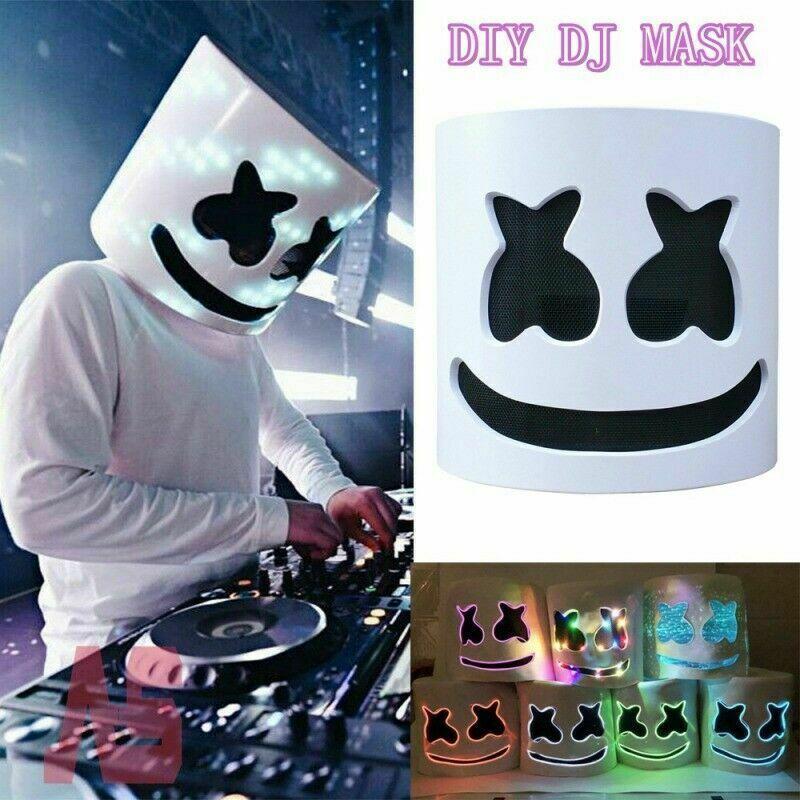 MarshMello DJ Mask Full Head Helmet Halloween Cosplay Mask Bar Music Party Props