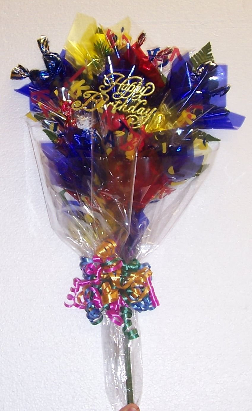 Chocolate bouquet on pinterest candy flowers bouquet of chocolate - Find This Pin And More On Birthday Bouquets Chocolates And Candy