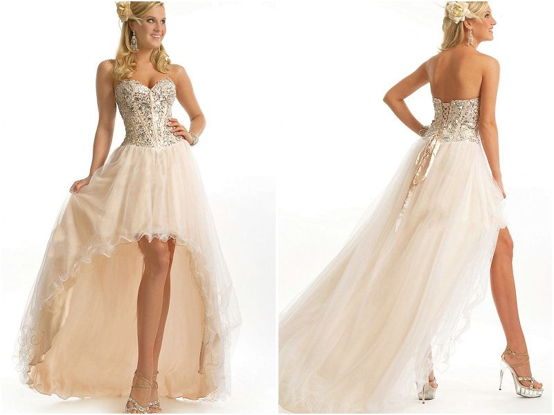 champagne dress prom high lo - Google Search | PROMtastic ...