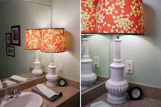Look Another Table Lamp In The Bathroom Diy Lamp Shade Lamp Makeover Lamp