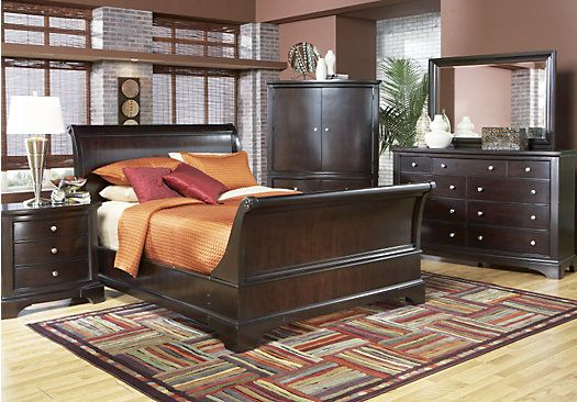 Shop For A Whitmore Cherry Sleigh 6 Pc Queen Bedroom At Rooms To Go Find Bedroom Sets That Will Look Great I King Bedroom Sets Bedroom Sets Bedroom Sets Queen