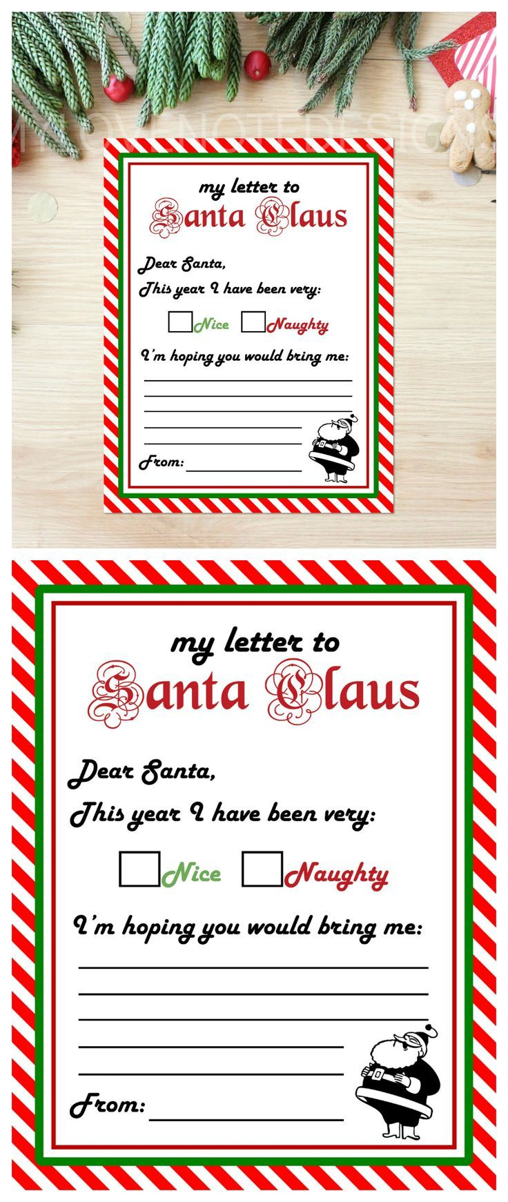 Letter to santa claus free printable santa and holidays free printable santa claus letter spiritdancerdesigns Image collections
