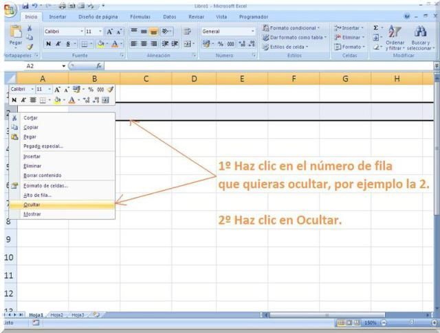 Como Mostrar Y Ocultar Filas En Excel Excel Map Periodic Table
