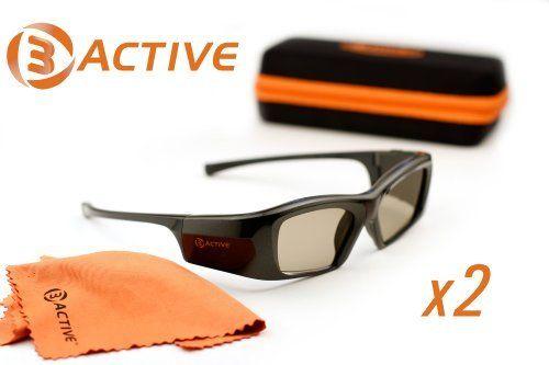 MITSUBISHI-Compatible 3D Glasses. Includes IR Emitter