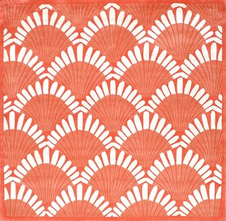 Shells Nouveau Rug in Coral Coral area rug, Shell rug, Rugs