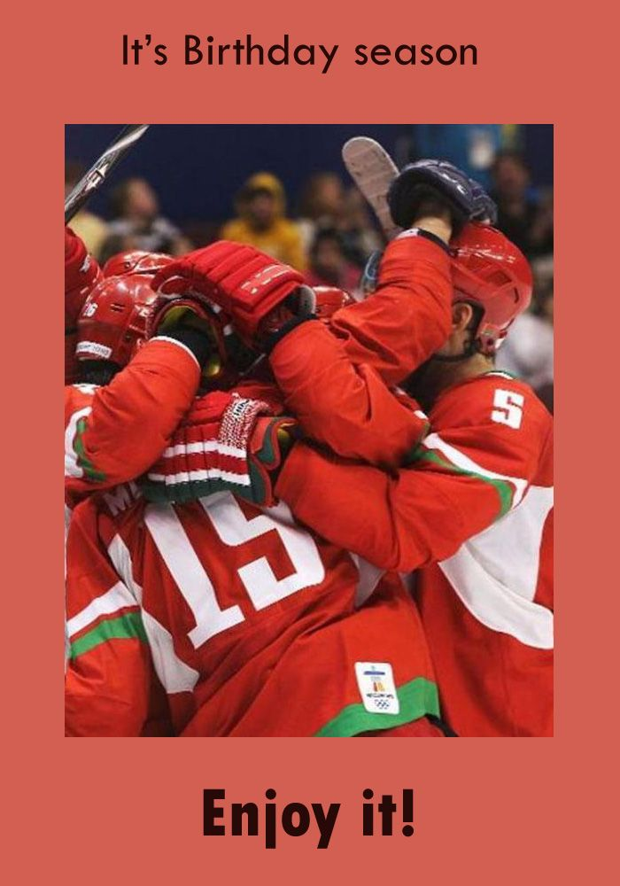 Birthday Card With Ice Hockey Remembering U Pinterest Ice