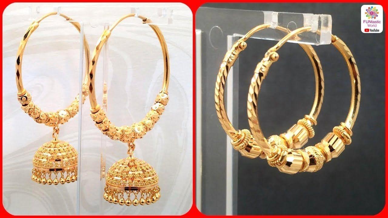 Latest Gold Hoop Earrings Designs Bali Baliyan Design For S