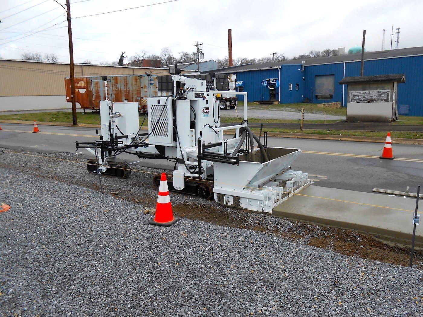 Curb Machine Concrete Paving Concrete Curbing Curbing