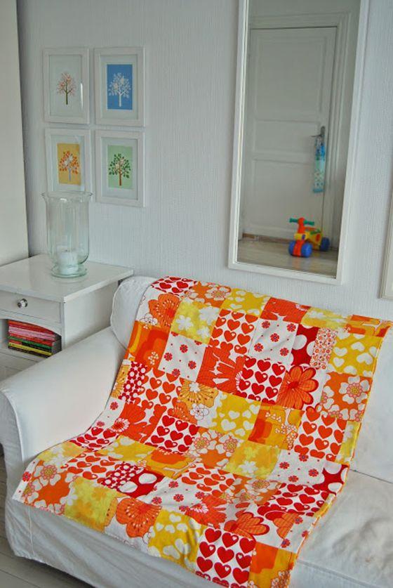 Love this patchwork with byGraziela fabric | Graziela Stoff Herzen ...