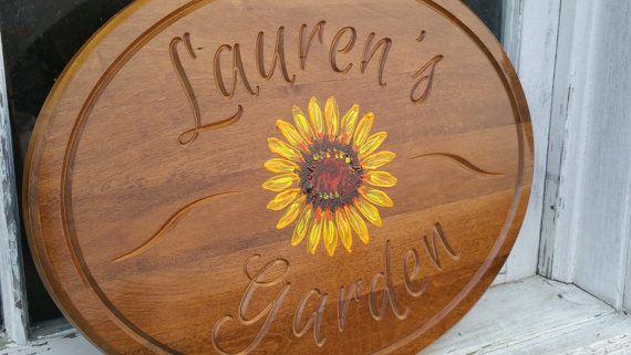 Garden Sign Wood Zen Garden Garden Decor Custom Personalized Plaque Wooden  Garden Sign Garden Art Sign