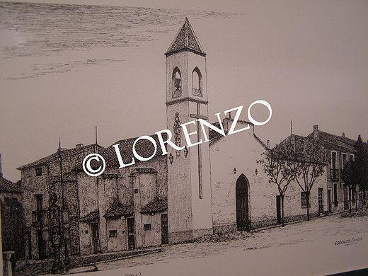 Almansa Antigua Iglesia De San Roque Dibujo A Plumilla Sobre Papel Dibujo A Pluma Iglesia Plumas