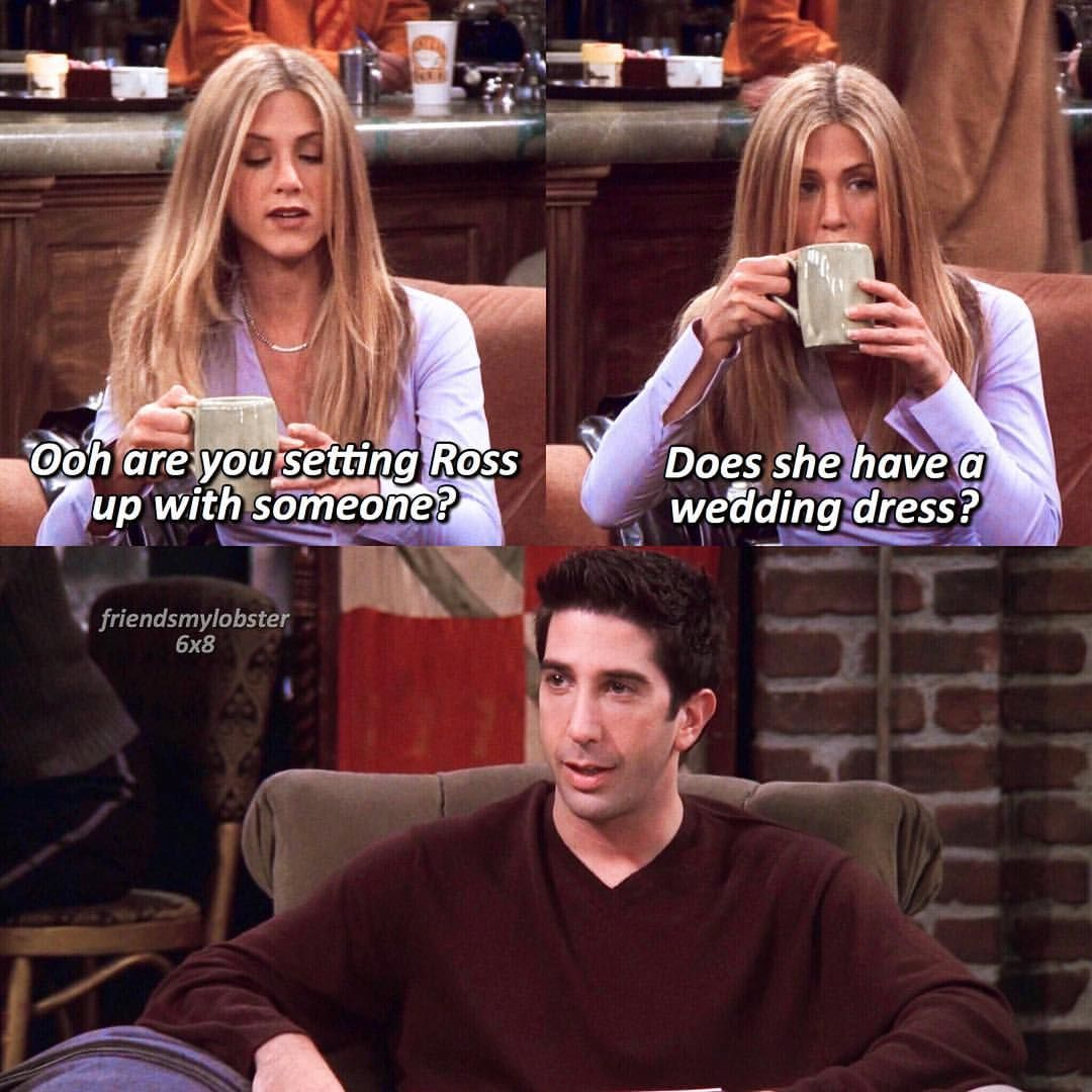 Does She Have A Wedding Dress FRIENDS Ross And Rachel