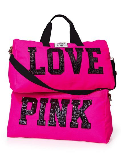 5bbde2debc27 PINK travel Duffle Bag- is a must!