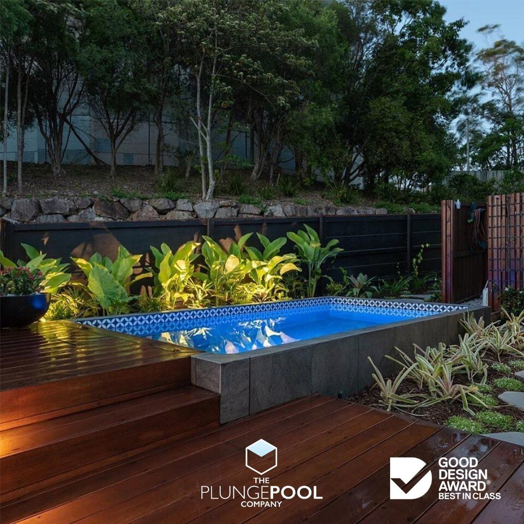 Plungie Original Rectangle 4 6m X 2 5m With Free Poolwerx Equipment The Plunge Pool Company Small Pool Design Small Backyard Pools Pool Cost