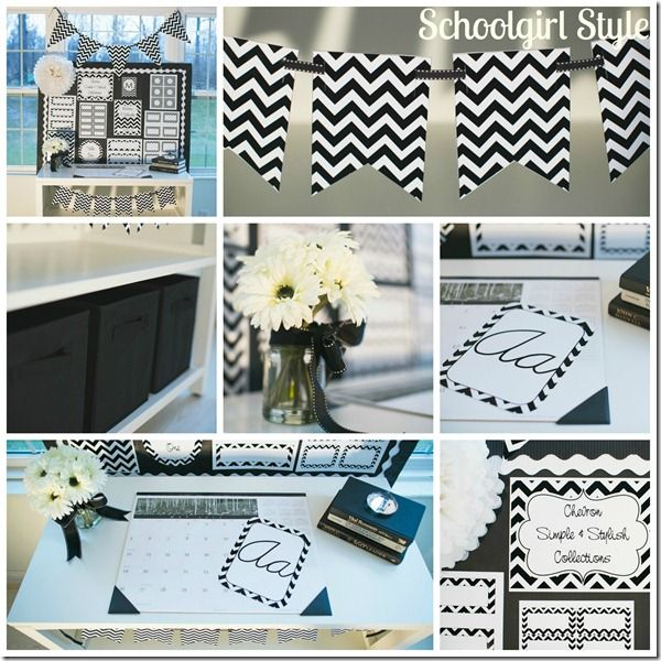 Yellow Classroom Decor ~ Chevron chic classroom collections come in turquoise