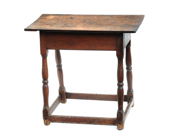 18th c new england tavern table with stretcher base furniture rh pinterest com
