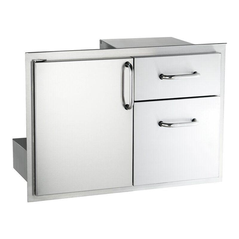 Drop In Drawer Access Door Combo In 2020 Custom Countertops Stainless Steel Doors Adjustable Shelving