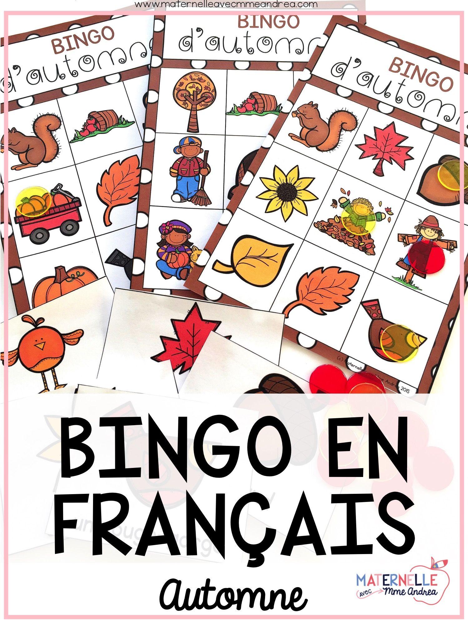 Bingo D Automne French Autumn Bingo