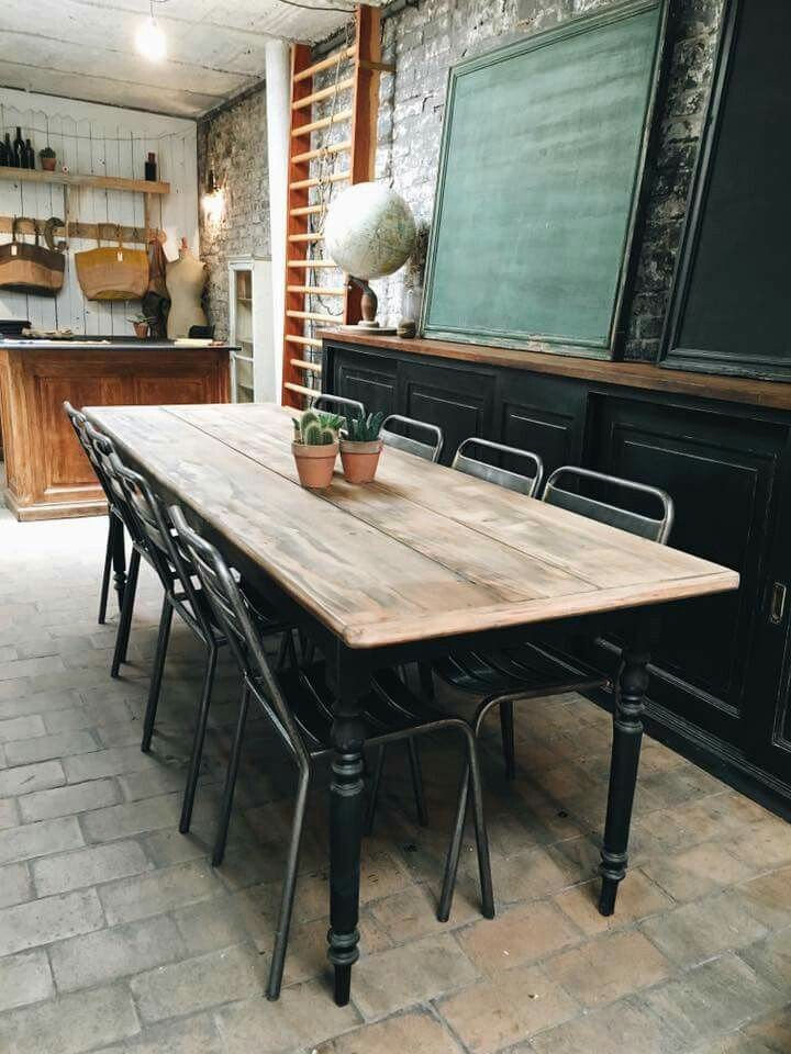 Le Marchand D Oublis Idee Salle A Manger Salle A Manger Industrielle Idee Deco Meuble