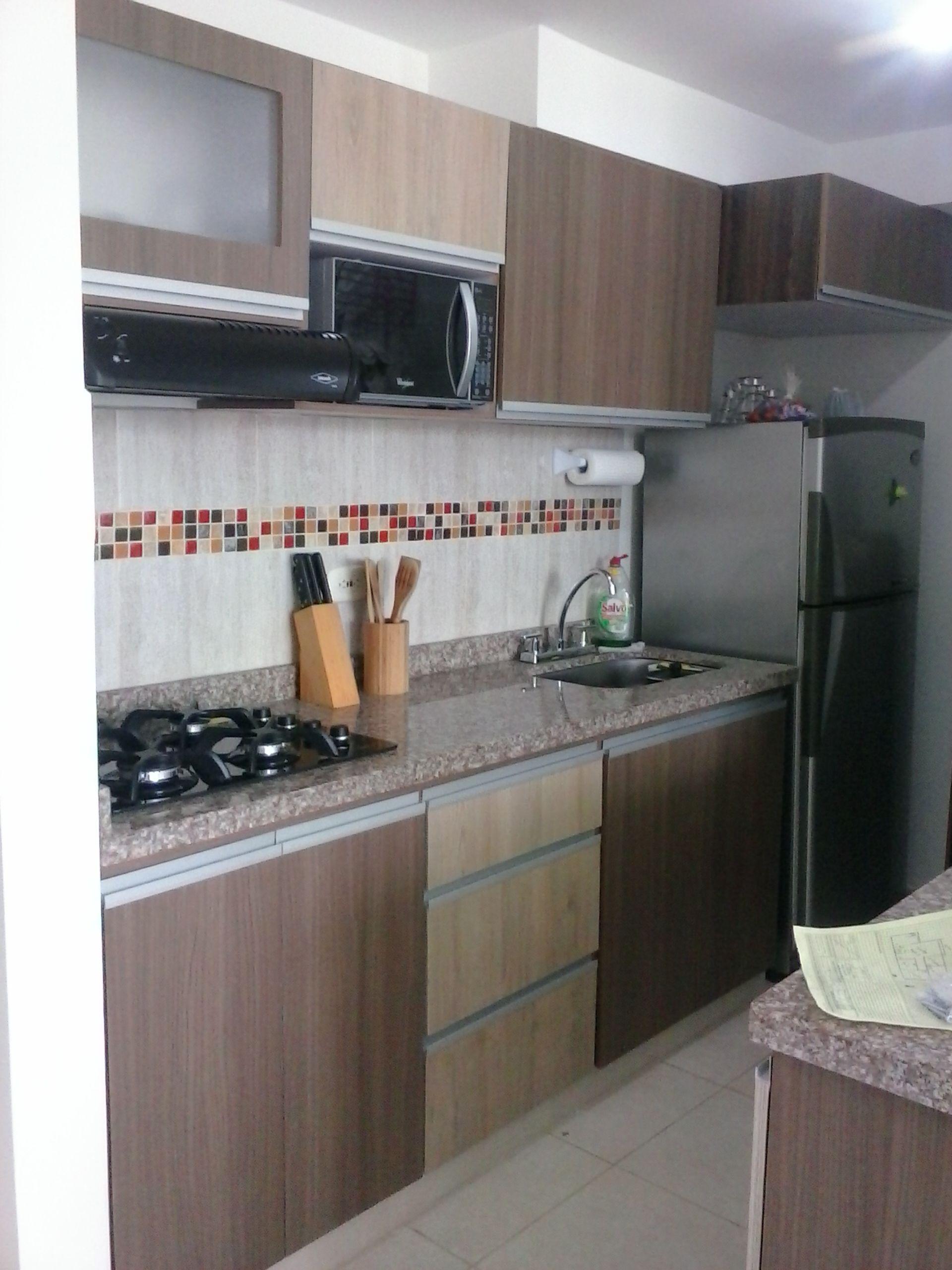 Fabricada por c g arte y decoraci n cocina con meson en for Cocinas en granito natural
