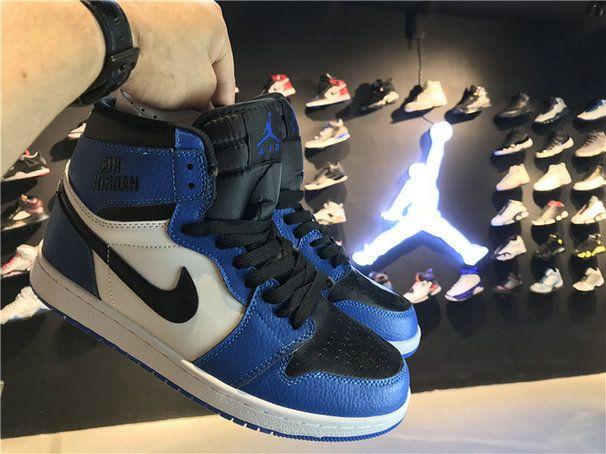 723f69c3465 Nike Air Jordan 1 Rare Air 332550 400 Soar Blue Black White Sneaker paint  Shoe