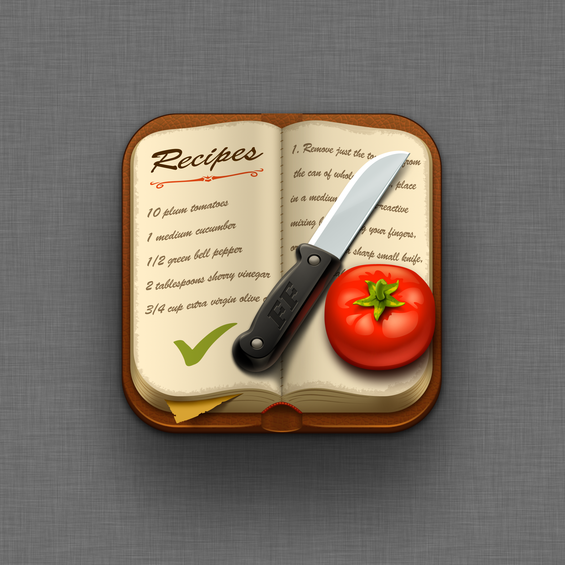 Food Files recipe manager (iOS) Icon design by Kolopach