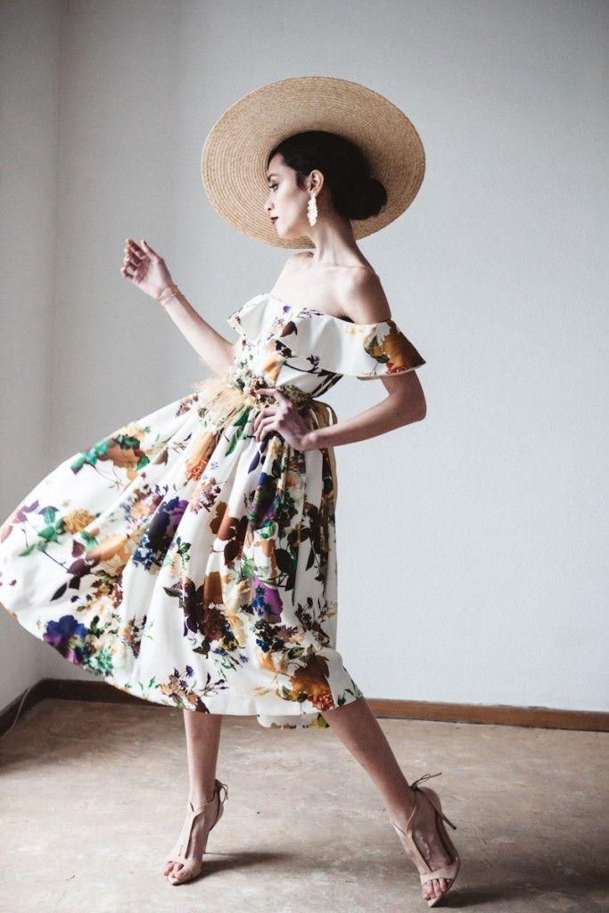 Vestido estampado volante – Boüret Atelier