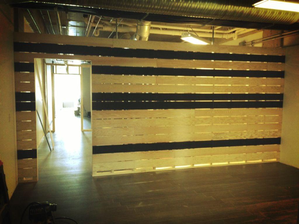 Beautiful plywood divider wall urban jungle office pinterest