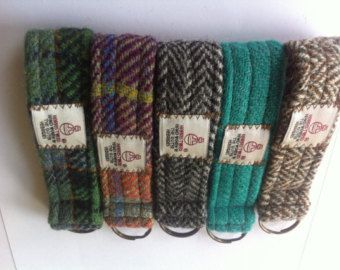 Harris tweed key ring key chain lanyard made in Scotland man woman gift vegetarian wool Scottish