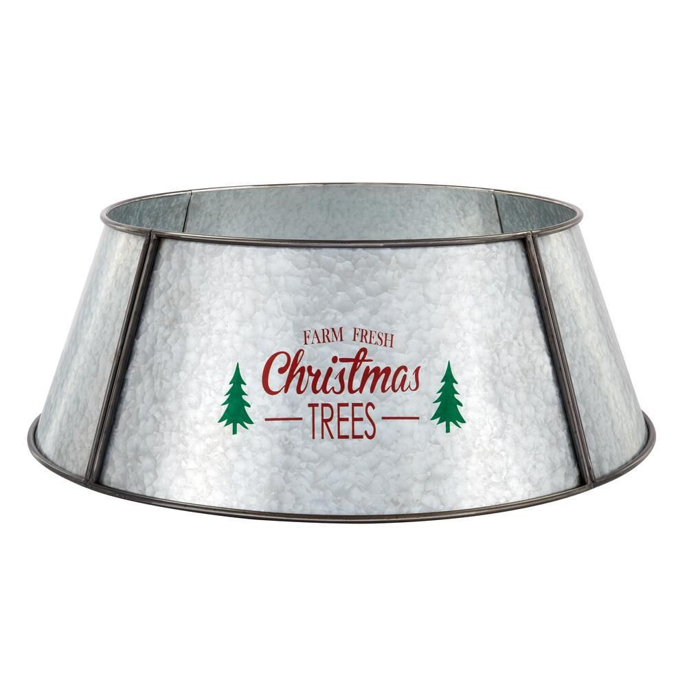 Home Accents Holiday 26 5 In Metal Tree Collar 4040578 The Home Depot In 2020 Tree Collar Metal Tree Christmas Tree Stand Cover