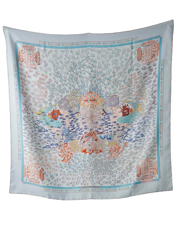 Hermès Ocean-Themed Scarf saved by C Beau   Carré Hermes   Pinterest ... 6a03f6dce1a