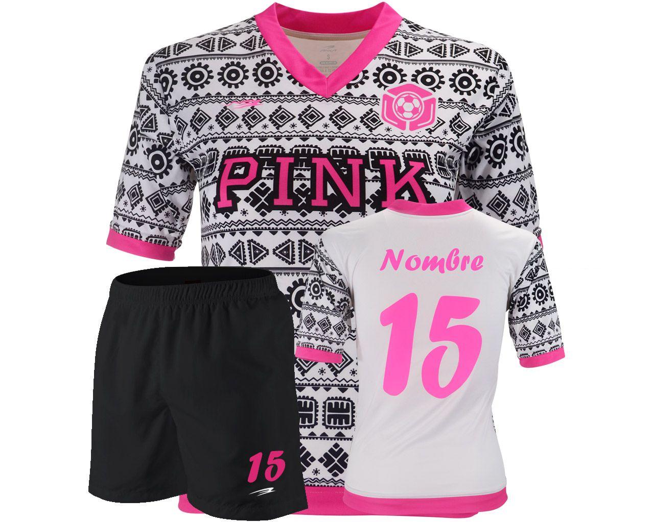 Uniforme Fútbol Pink Mujer  2aa4b60ecb52c