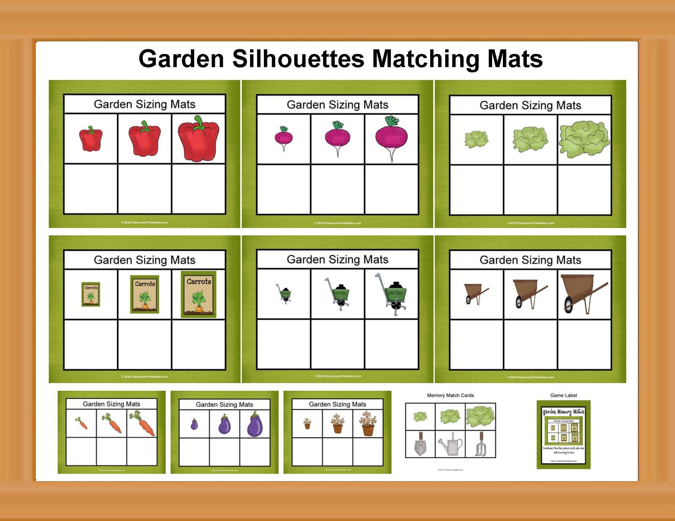 Garden Sizing Mats