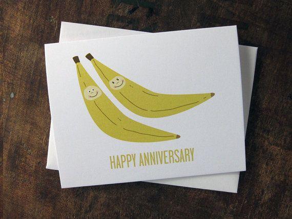 Sale Funny Anniversary Card Bananas Anniversary Greeting Etsy Funny Anniversary Cards Anniversary Greeting Cards Anniversary Greetings
