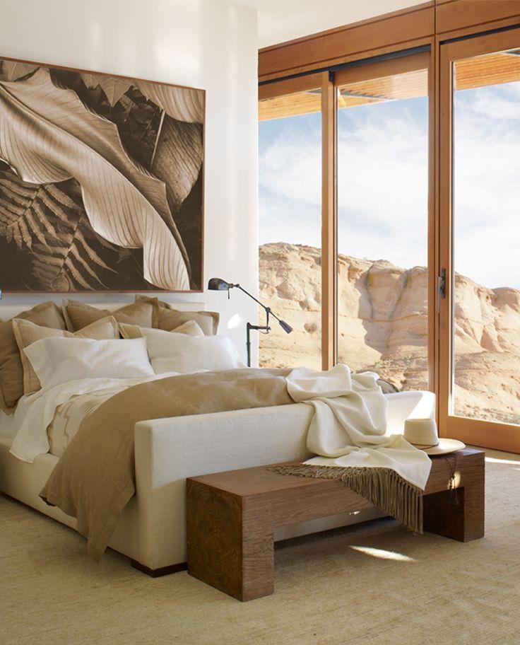Ralph lauren homes streamlined and luxurious desert modern bed