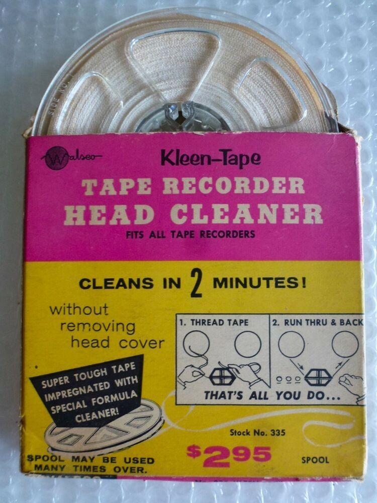 Reel To Reel Tape Recorder Head Cleaner Vintage Walsco 335 Kleen Tape Neocurio Walsco Reeltoreel Headcleaner Vintag Tape Recorder Vintage Electronics Tape