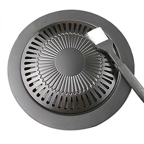 Korean Barbecue Grill Pan Stovetop Nonstick Indoor Outdoor Smokeless Bbq Cast Iron Grill Plate Grill Plate Cast Iron Grill Barbecue Grill