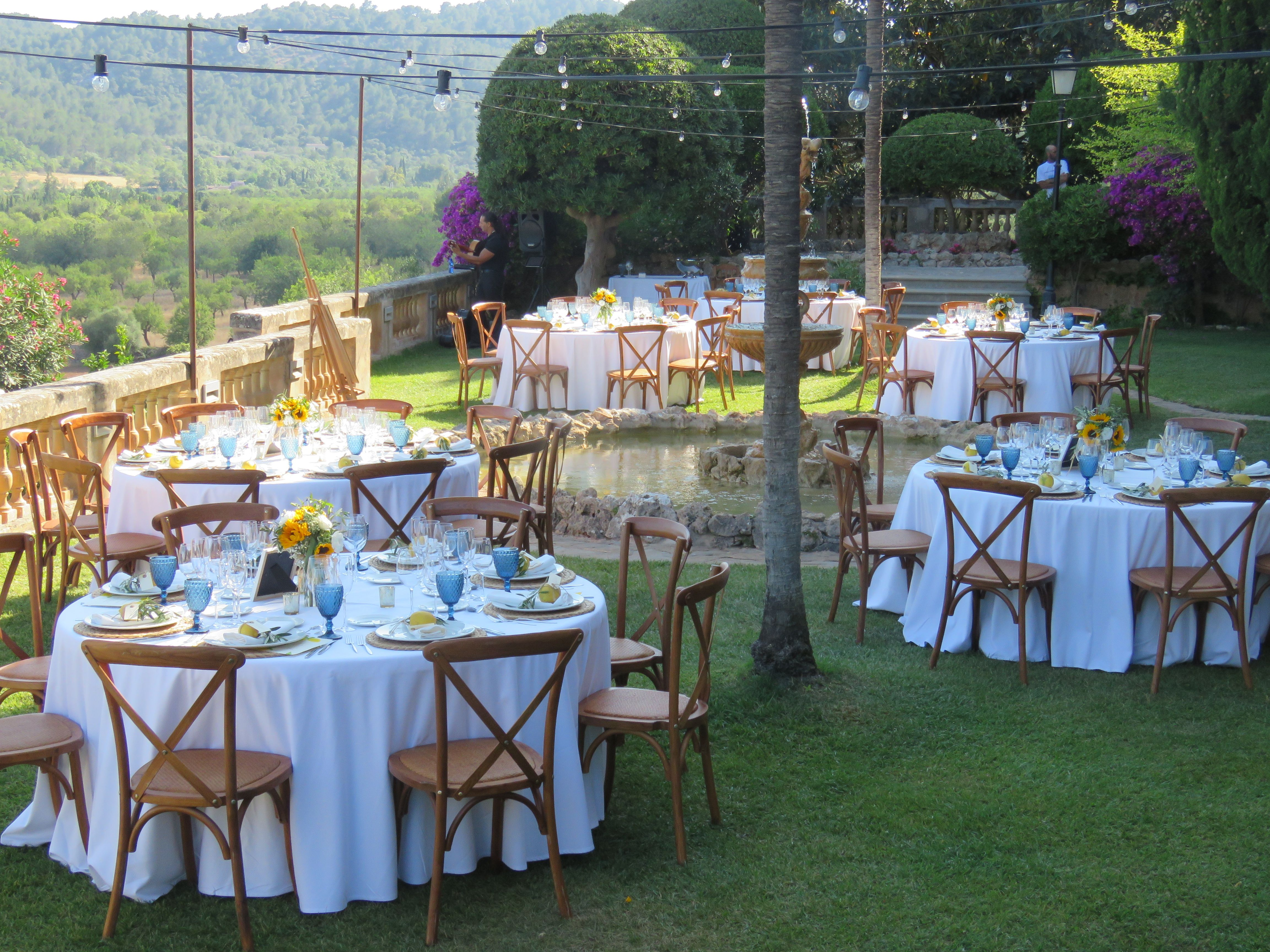 Simple rustic set up at a beautiful event venue only 20 ...