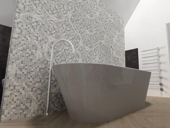 Tegelfloor breda tegels mozaïek tegelfloor mozaiek