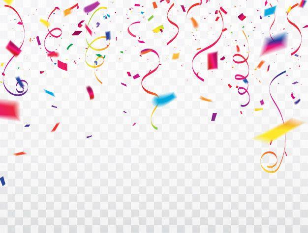 Cornice Di Nastri Confetti Celebrazione Art Birthday Frame Smartphone Wallpaper