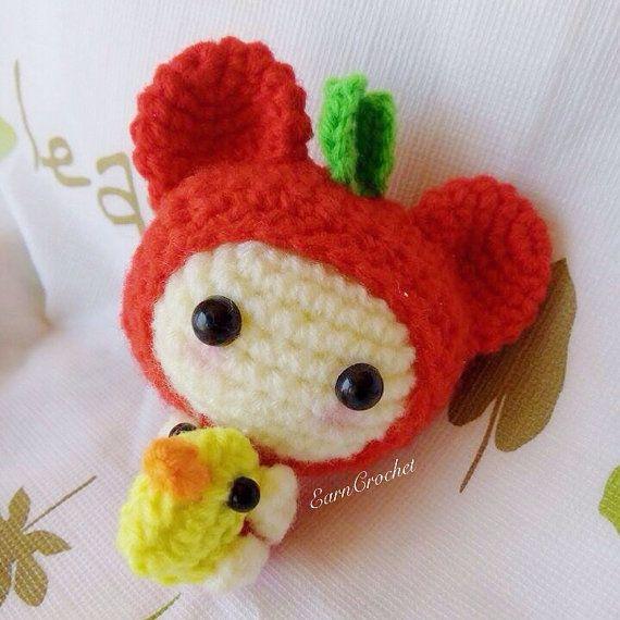 Amigurumi Mini Dolls : Amigurumi crochet doll mini fruit and duck keychain,bag ...