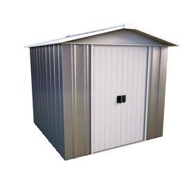 Abri de jardin en métal taupe Cellbridge, Ep.0,30 mm, 4,04 m² ...