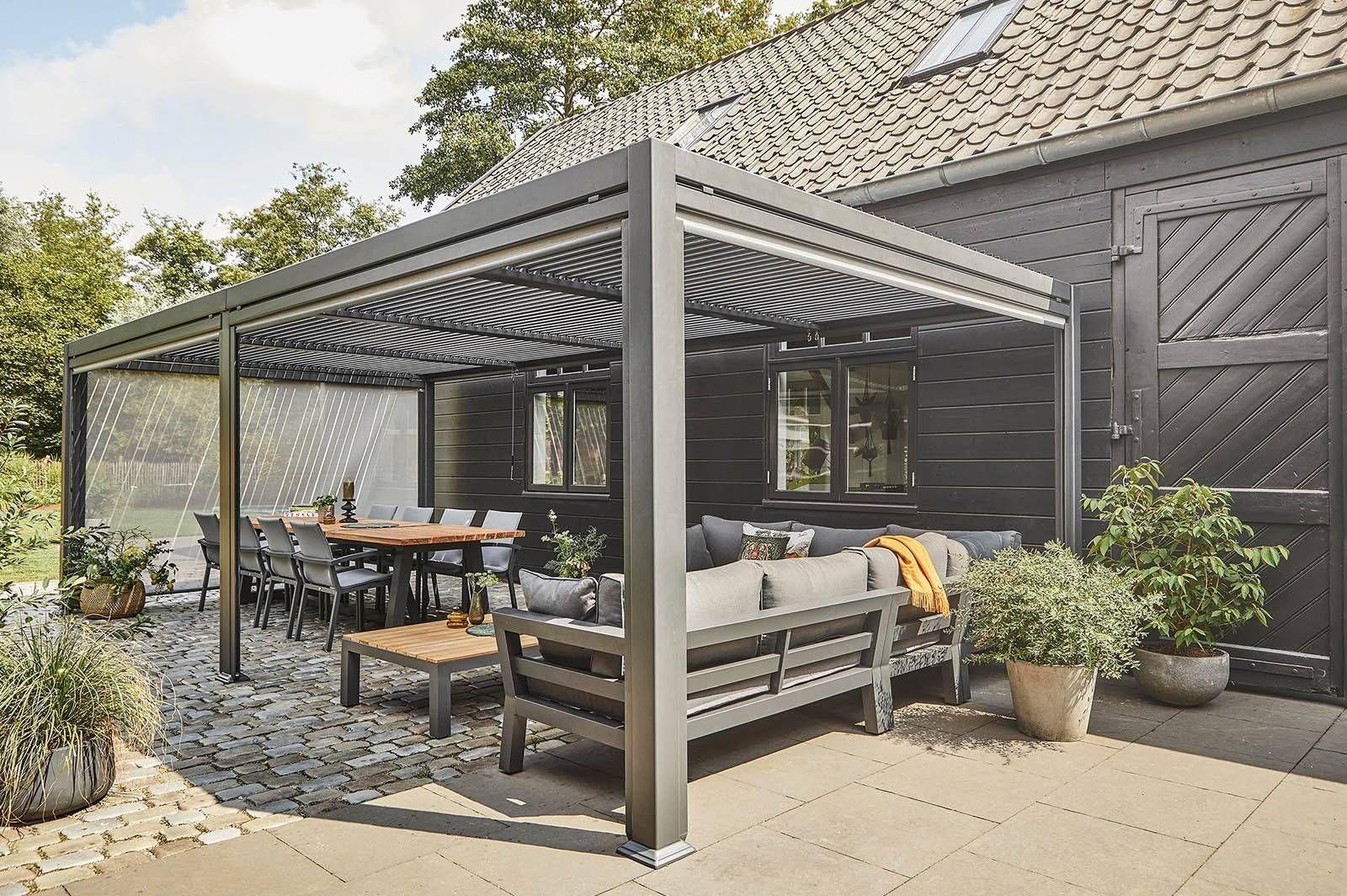 Zadaszenie Tarasowe Maranza 720cm Grey Sklep Internetowy Garden Space Pergola Gazebo Gazebo Pergola