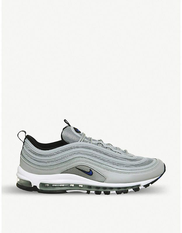 nike white and black leather air max 97 trainers